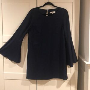 Brand new navy Likely mini dress with bell sleeves